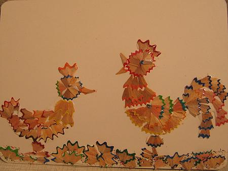 Поделки из стружек дерева для детей